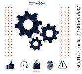 gears wheel   settings icon | Shutterstock .eps vector #1100545637