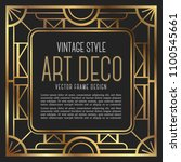 luxury vintage frame art deco... | Shutterstock .eps vector #1100545661