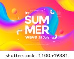 electronic music fest summer... | Shutterstock .eps vector #1100549381