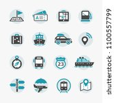 web icon set. location ... | Shutterstock .eps vector #1100557799