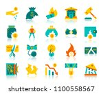 bankruptcy flat icons set. web... | Shutterstock .eps vector #1100558567