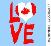 Love Canada  America. Vintage...
