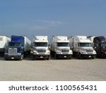 truck stop  resting place  a...   Shutterstock . vector #1100565431