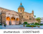 view of the cathedral of... | Shutterstock . vector #1100576645