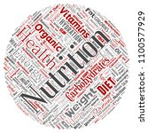 vector conceptual nutrition... | Shutterstock .eps vector #1100577929