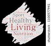vector conceptual healthy... | Shutterstock .eps vector #1100577941