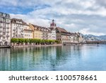 view of the city lucerne from... | Shutterstock . vector #1100578661