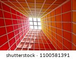 abstract perspective of... | Shutterstock . vector #1100581391