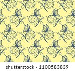 seamless background with... | Shutterstock .eps vector #1100583839