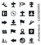 set of vector isolated black... | Shutterstock .eps vector #1100585495