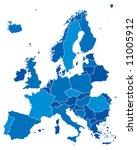 europ blue background seamless... | Shutterstock .eps vector #11005912