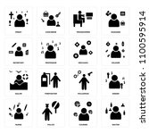 set of 16 icons such as waiter  ... | Shutterstock .eps vector #1100595914