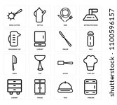 set of 16 icons such as freezer ... | Shutterstock .eps vector #1100596157