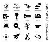 set of 16 icons such as magnet  ...