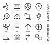 set of 16 icons such as puzzle  ...
