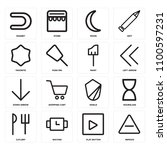 set of 16 icons such as remove  ... | Shutterstock .eps vector #1100597231