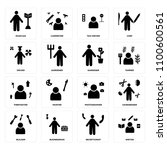 set of 16 icons such as writer  ...