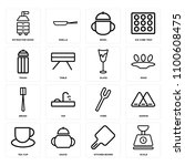 set of 16 icons such as scale ...