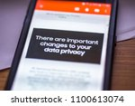 general data protection... | Shutterstock . vector #1100613074
