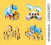 people cloud computing storage | Shutterstock .eps vector #1100613857