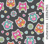 seamless pattern of cartoon... | Shutterstock . vector #110062961