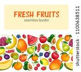 vector berries and fruits... | Shutterstock .eps vector #1100638511