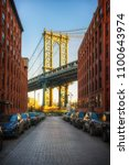view on manhattan bridge from... | Shutterstock . vector #1100643974