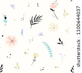 Floral Pattern With Abstract...