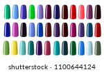 nail polish in different... | Shutterstock . vector #1100644124