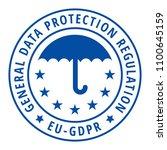eu gdpr label illustration | Shutterstock .eps vector #1100645159