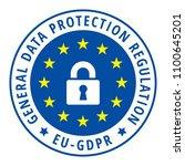 eu gdpr label illustration | Shutterstock .eps vector #1100645201