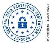 eu gdpr label illustration | Shutterstock .eps vector #1100645237