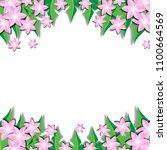 spring flower background vector ... | Shutterstock .eps vector #1100664569