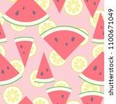 vector illustration  seamless... | Shutterstock .eps vector #1100671049