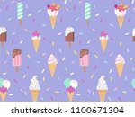 ice cream seamless pattern.... | Shutterstock .eps vector #1100671304