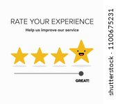 rate your experience feedback... | Shutterstock .eps vector #1100675231