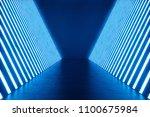 3d rendering abstract blue room ... | Shutterstock . vector #1100675984