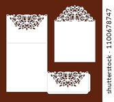 wedding invitation card with... | Shutterstock .eps vector #1100678747