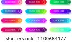 set of colorful click here... | Shutterstock .eps vector #1100684177