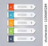 infographic arrow template.... | Shutterstock .eps vector #1100685284