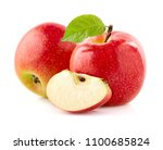 apples with slice on white... | Shutterstock . vector #1100685824