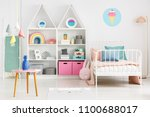 front view of a kid's room... | Shutterstock . vector #1100688017