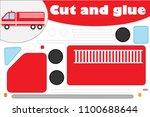 fire truck in cartoon style ... | Shutterstock .eps vector #1100688644