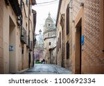 madrid  spain   april 11  2018  ... | Shutterstock . vector #1100692334