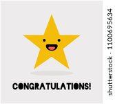 congratulations with smiling... | Shutterstock .eps vector #1100695634