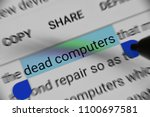 getting information about dead... | Shutterstock . vector #1100697581