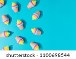 colorful ice cream pattern on... | Shutterstock . vector #1100698544