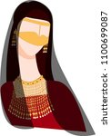 emirate women wearing... | Shutterstock .eps vector #1100699087