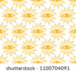 seamless background with sun. | Shutterstock .eps vector #1100704091