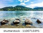 tegernsee lake in bavaria  ... | Shutterstock . vector #1100713391